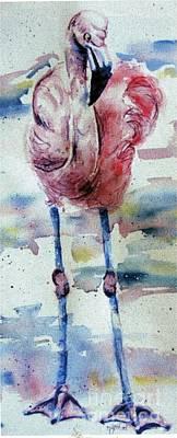 Flamingo Mist Poster
