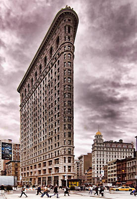 Poster featuring the photograph Flat Iron Building by Michael Dorn