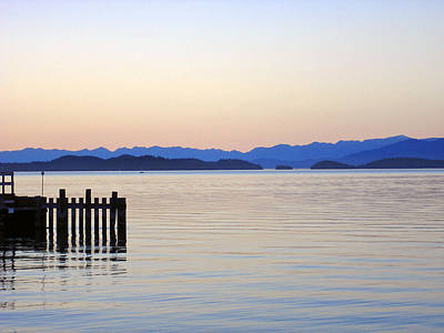 Flathead Lake At Dusk Poster