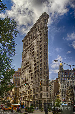 Poster featuring the photograph Flatiron Building - Color by Vicki DeVico