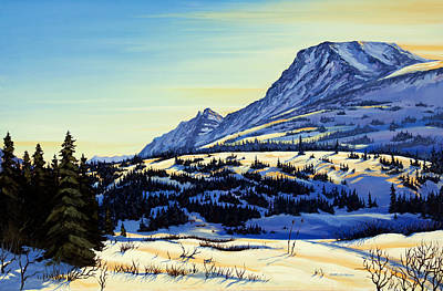 Poster featuring the painting Flattop Winter by Kurt Jacobson