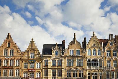 Flemish Architecture In Ypres, Belgium Poster