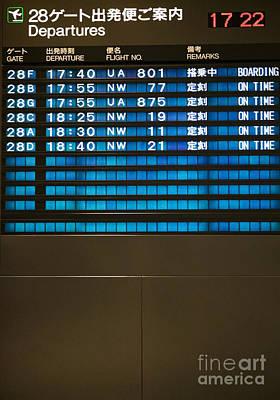 Flight Departure Board Poster by Andersen Ross