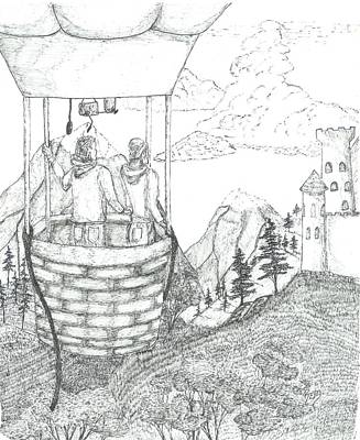 Flight Of Fancy - Sketch Poster by Robert Meszaros