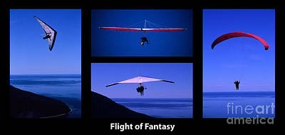 Flight Of Fantasy With Caption Poster by Bob Christopher