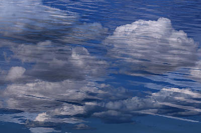 Floating Clouds Poster by Michael Mogensen