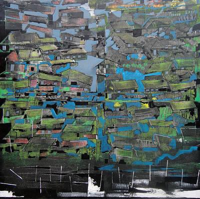 Poster featuring the painting Flood by Adalardo Nunciato  Santiago