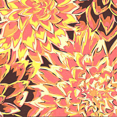 Floral Abstraction 18 Poster by Sumit Mehndiratta