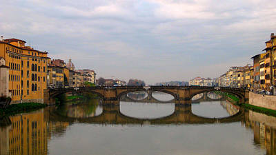 Florence Italy Bridge Poster
