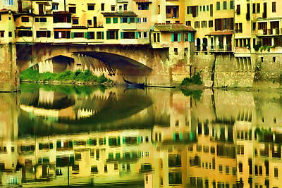 Florence Reflection Poster by Dawn Nicoli