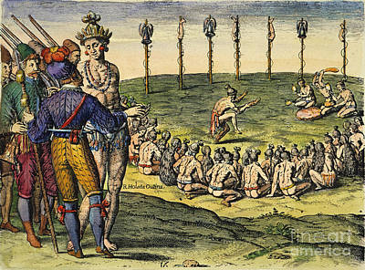 Florida: Native Americans, 1591 Poster by Granger