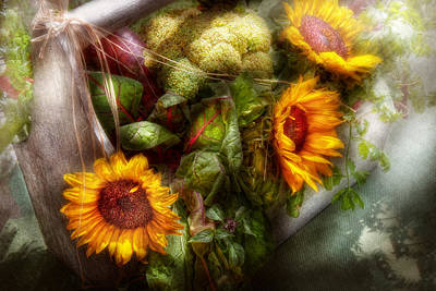 Flower - Sunflower - Gardeners Toolbox  Poster by Mike Savad