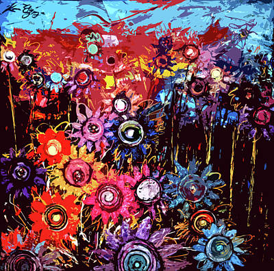 Flower Garden Poster by Karen Elzinga