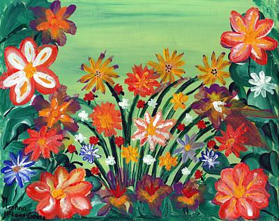 Flower Garden Poster by LeeAnn McLaneGoetz McLaneGoetzStudioLLCcom
