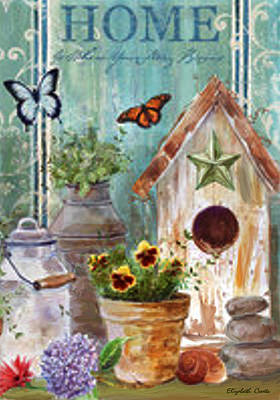 Poster featuring the painting Flower Pot by Elizabeth Coats