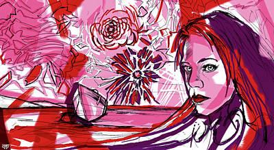 Flower Sun Lake Love Poster