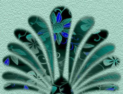 Flowered Fan Poster