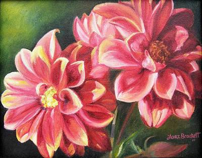 Poster featuring the painting Flowers For Mom I by Lori Brackett