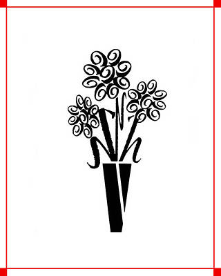 Flowers In Type Poster by Connie Fox