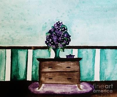 Flowers On My Dresser Poster by Marsha Heiken