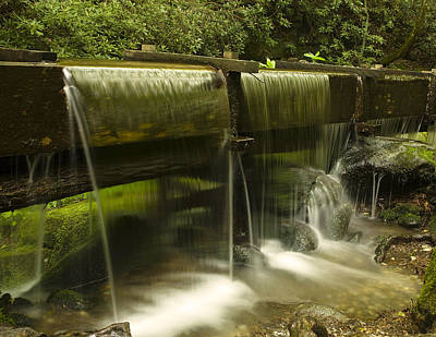 Flowing Water From Mill Poster by Andrew Soundarajan