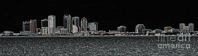 Fluorescent Tampa Panorama Poster by Carol Groenen