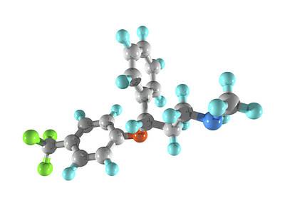 Fluoxetine Drug Molecule Poster by Laguna Design