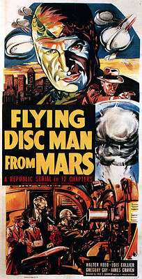 Flying Disc Man From Mars, 1950 Poster
