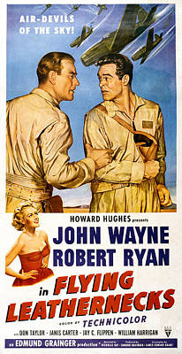 Flying Leathernecks, John Wayne, Robert Poster by Everett
