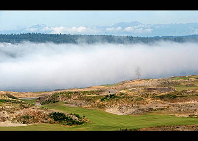 Fog And Fir - Chambers Bay Golf Course Poster by Chris Anderson
