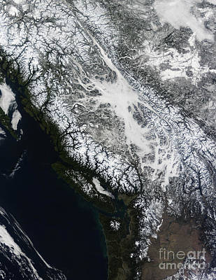Fog And Snow In British Columbia Poster