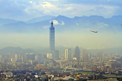Fog Taipei 101 Poster