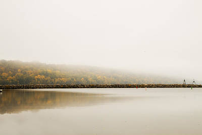 Poster featuring the photograph Foggy Autumn Morning by Joel Witmeyer