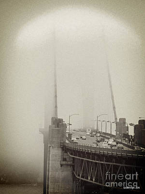 Foggy Golden Gate Poster