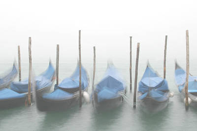 Foggy Morning Grand Canal Poster by Tom and Pat Cory