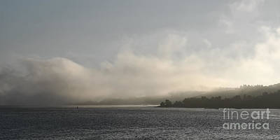 Foggy Morning Greyscale Poster by Lutz Baar