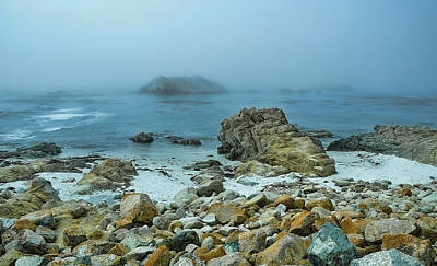 Foggy Morning On The Coast Poster by Renee Hardison