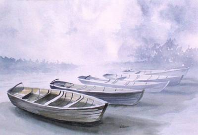 Poster featuring the painting Foggy Morning by Richard Willows