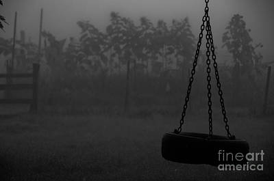Poster featuring the photograph Foggy Playground by Cheryl Baxter