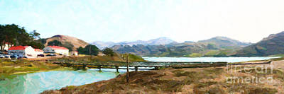 Foot Bridge At Rodeo Lagoon In The Marin Headlands . Photo Art Poster by Wingsdomain Art and Photography