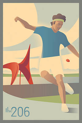 Footbag In Seattle Poster by Mitch Frey