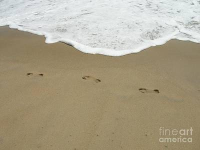 Poster featuring the photograph Footprints by Arlene Carmel
