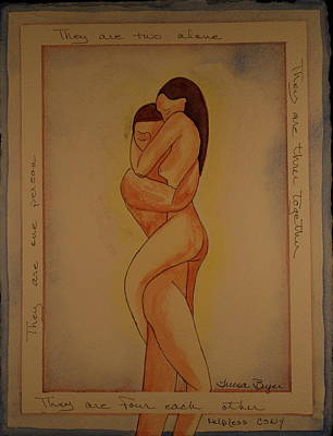 Poster featuring the painting For Each Other by Teresa Beyer