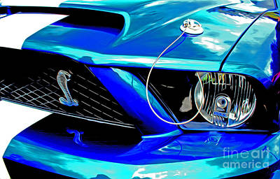 Poster featuring the digital art Ford Mustang Cobra by Tony Cooper