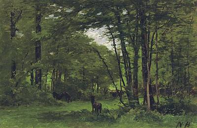 Forest Of Fontainebleau Poster by Nathaniel Hone