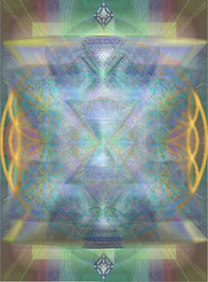 Forested Chalice II In The Flower Of Life And Vortexes Poster
