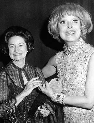 Former First Lady Visits Carol Channing Poster