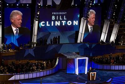 Former President Bill Clinton Addresses Poster by Everett