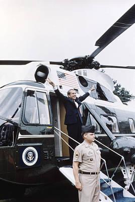 Former President Richard Nixon Boards Poster