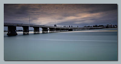 Poster featuring the photograph Forster Bridge 01 by Kevin Chippindall